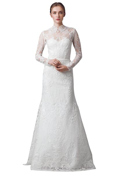 Top10 chic lace wedding dresses 05