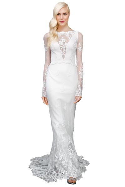 Top10 chic lace wedding dresses 07
