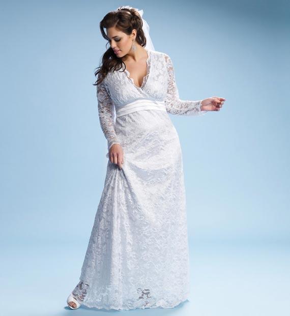 Plus size wedding dresses for curvy girl