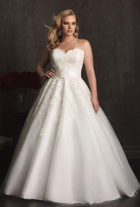 Plus size wedding dresses for curvy girl 04