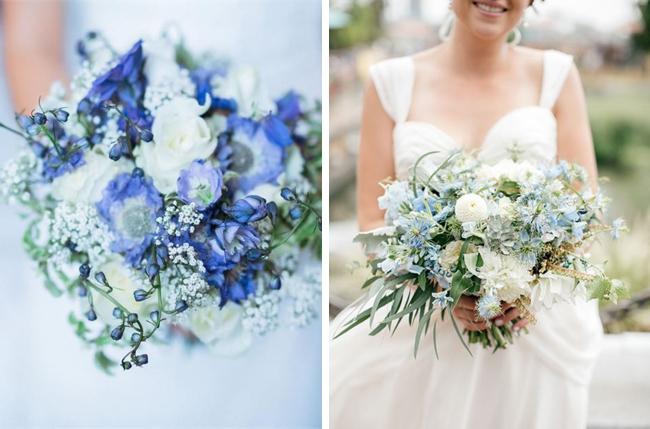 Elegant blue wedding bouquets 03