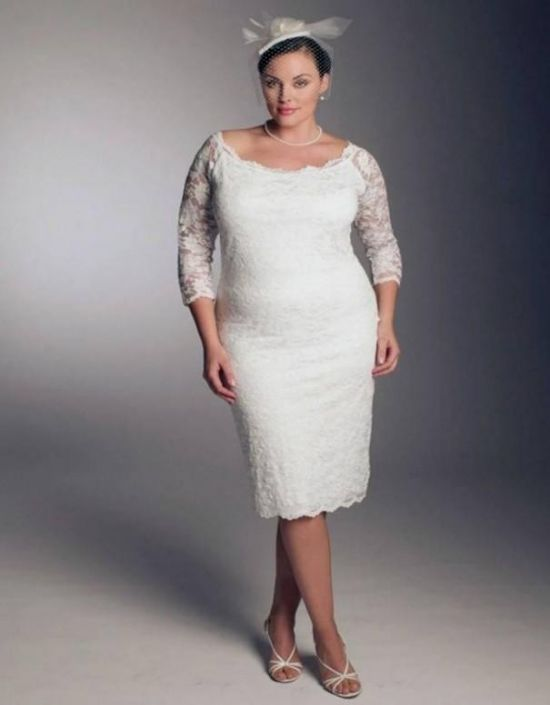 Top10 beautiful short plus size wedding dresses 06