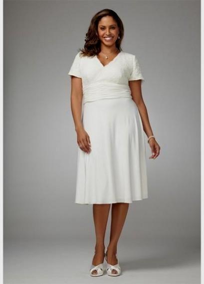 Top10 beautiful short plus size wedding dresses 05