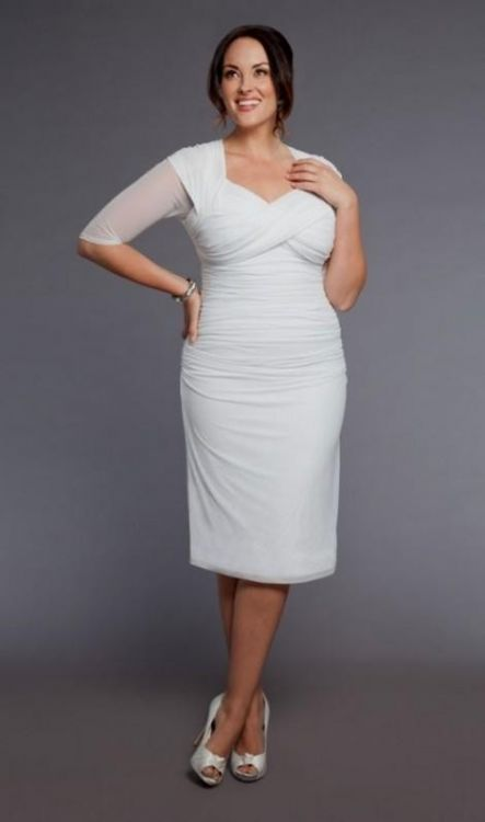 Top10 beautiful short plus size wedding dresses 04