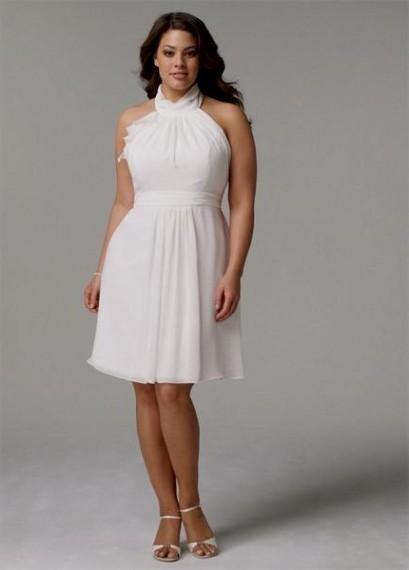 Top10 beautiful short plus size wedding dresses 10