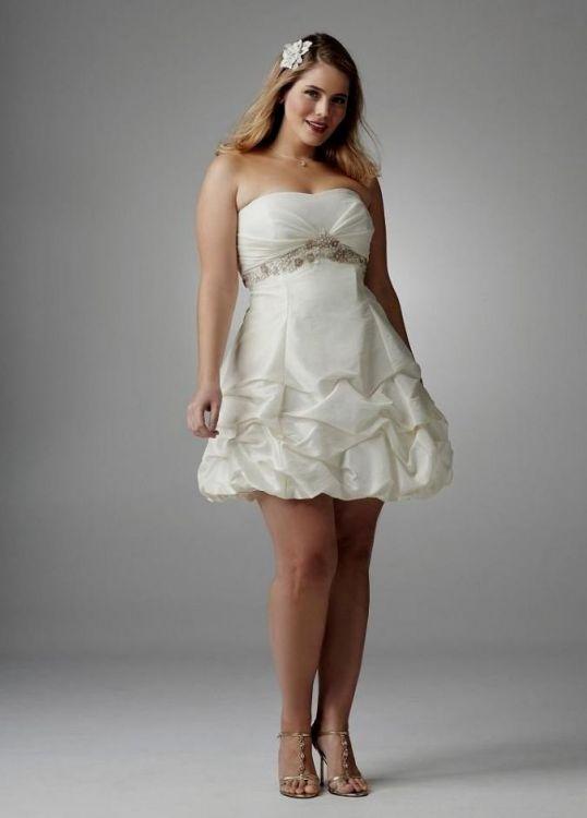 Top10 beautiful short plus size wedding dresses 08