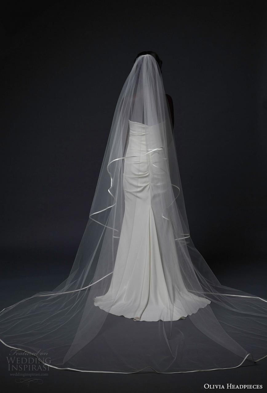 olivia headpieces fall 2016 veils single satin trim cathedral veil (covent) mv