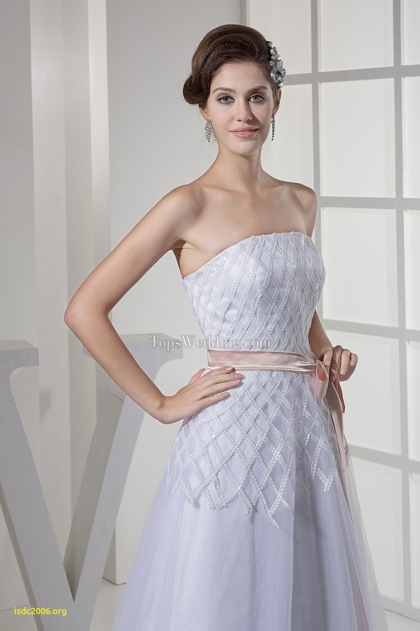 Strapless Tulle Sash White A Line Customized Wedding Dress line TPSWD 6